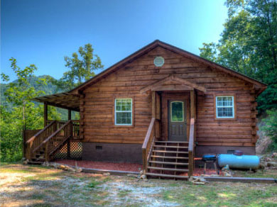 Cozy Fully Furnished Log Cabin For Sale By Owner Near Bryson