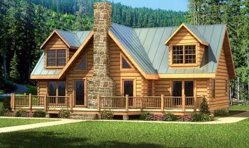 Log home plans cabin designs from smoky mountain for Large log home plans