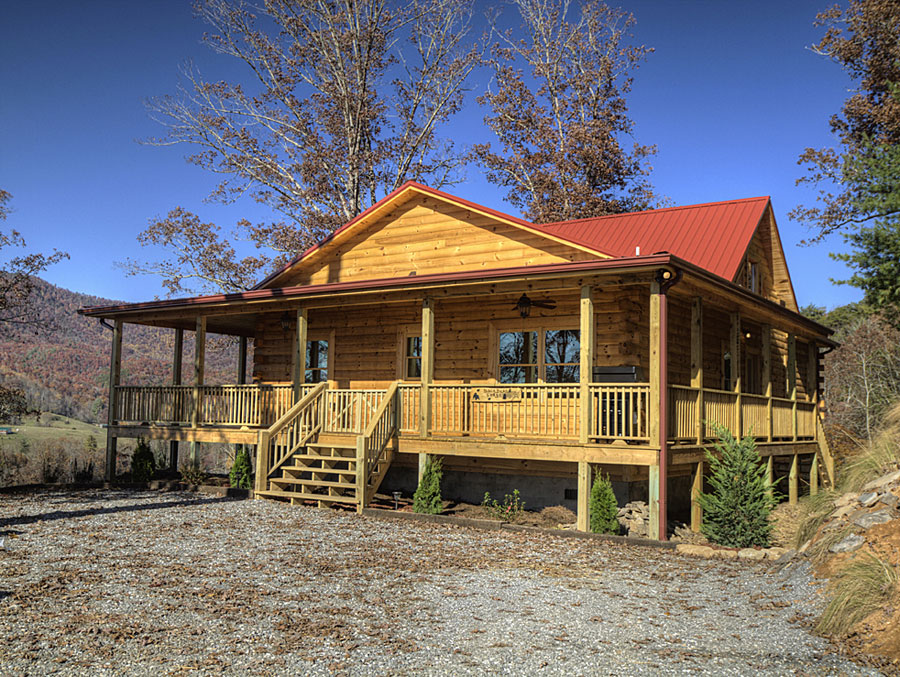 Smoky mountain cabin builder portfolio of log homes near for Cottage builders nc