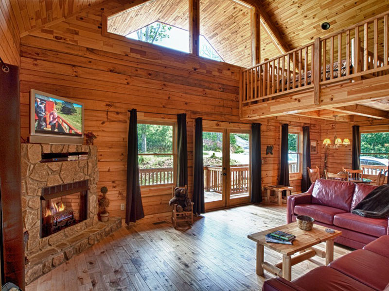 Log cabin construction portfolio — Deep Creek Overlook