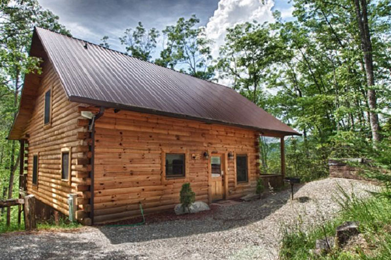 Log cabin construction portfolio therz a bear for Smoky mountain nc cabin rentals